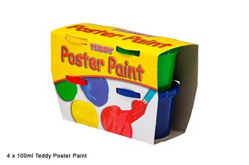 Picture of TEDDY POSTER PAINT 4X100ML TUB