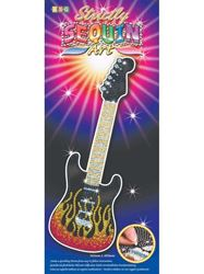 Picture of SEQUIN ART- ART GUITAR