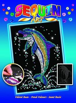 Picture of SEQUIN ART DOLPHIN-BLUE BOX