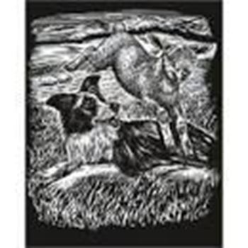Picture of ARTFOIL SILVER SHEEPDOG & LAMB