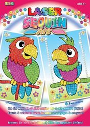 Picture of SEQUIN ART LASER - PARROTS