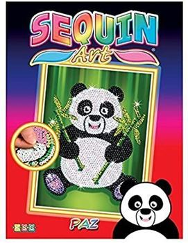 Picture of SEQUIN ART RED PAZ PANDA