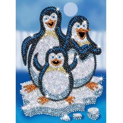Picture of SEQUIN ART RED PEPINO PENGUIN