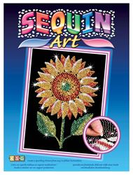 Picture of SEQUIN ART SUNFLOWER