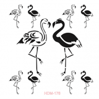 Picture of STENCIL FLAMINGO'S