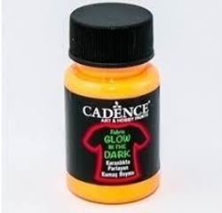 Picture of GLOW IN DARK FABRIC ORANGE 50ml