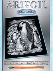 Picture of ARTFOIL SILVER PENGUINS