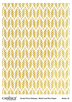 Picture of CADENCE METAL LEAF RICE PAPER GOLD#02