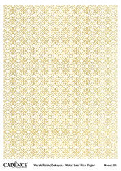 Picture of METAL LEAF RICE PAPER GOLD#05