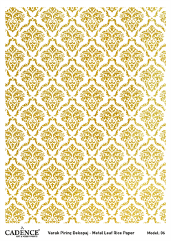 Picture of METAL LEAF RICE PAPER GOLD#06