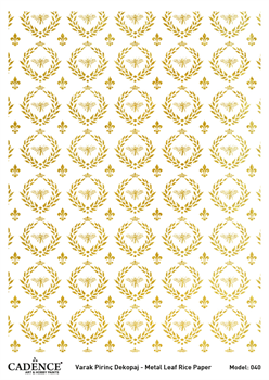 Picture of CADENCE METAL LEAF RICE PAPER GOLD#40