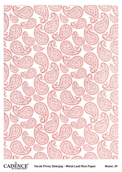 Picture of CADENCE METAL LEAF RICE PAPER ROSE GOLD#07