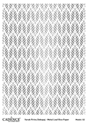Picture of METAL LEAF RICE PAPER SILVER#02