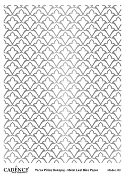 Picture of CADENCE METAL LEAF RICE PAPER SILVER#03