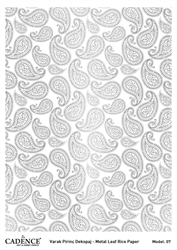 Picture of METAL LEAF RICE PAPER SILVER#07