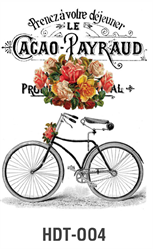 Picture of DÉCOR TRANSFER PAPER BICYCLE