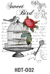 Picture of DÉCOR TRANSFER PAPER BIRD CAGE