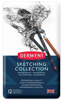 Picture of DERWENT SKETCHING COLLECTION, METAL TIN, 12 COUNT
