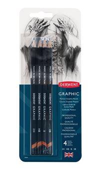 Picture of DERWENT GRAPHIC PENCILS SKETCH BLISTER 4 MEDIUM