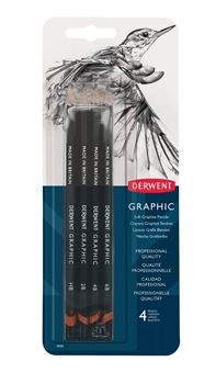 Picture of DERWENT GRAPHIC PENCILS SKETCH BLISTER PACK OF 4 SOFT