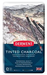 Picture of DERWENT TINTED CHARCOAL PENCILS TIN 12