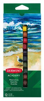 Picture of DERWENT ACADEMY WATERCOLOUR PAINT SET 12 X 12ML