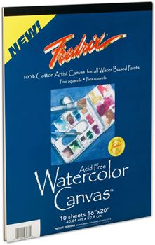 Picture of FREDRIX WATER COLOUR CANVAS PAD 16X20