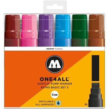 Picture of MOLOTOW ONE4ALL ACRYLIC MARKER 15MM BASIC SET