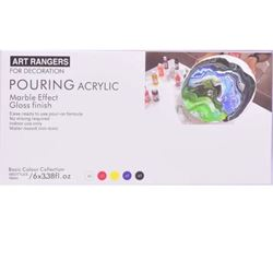 Picture of ART RANGER ACRYLIC PAINT POURING SET PRIMARY COLOURS