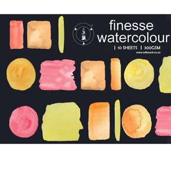 Picture of FINESSE WATERCOLOUR PADS 300G 10SHT (A5, A4, A3 & A2)